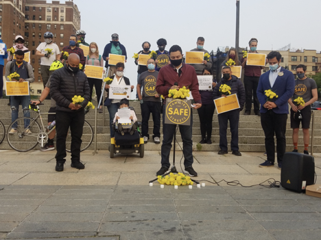 Spike in bike accidents in The Bronx spurs a vigil for victims