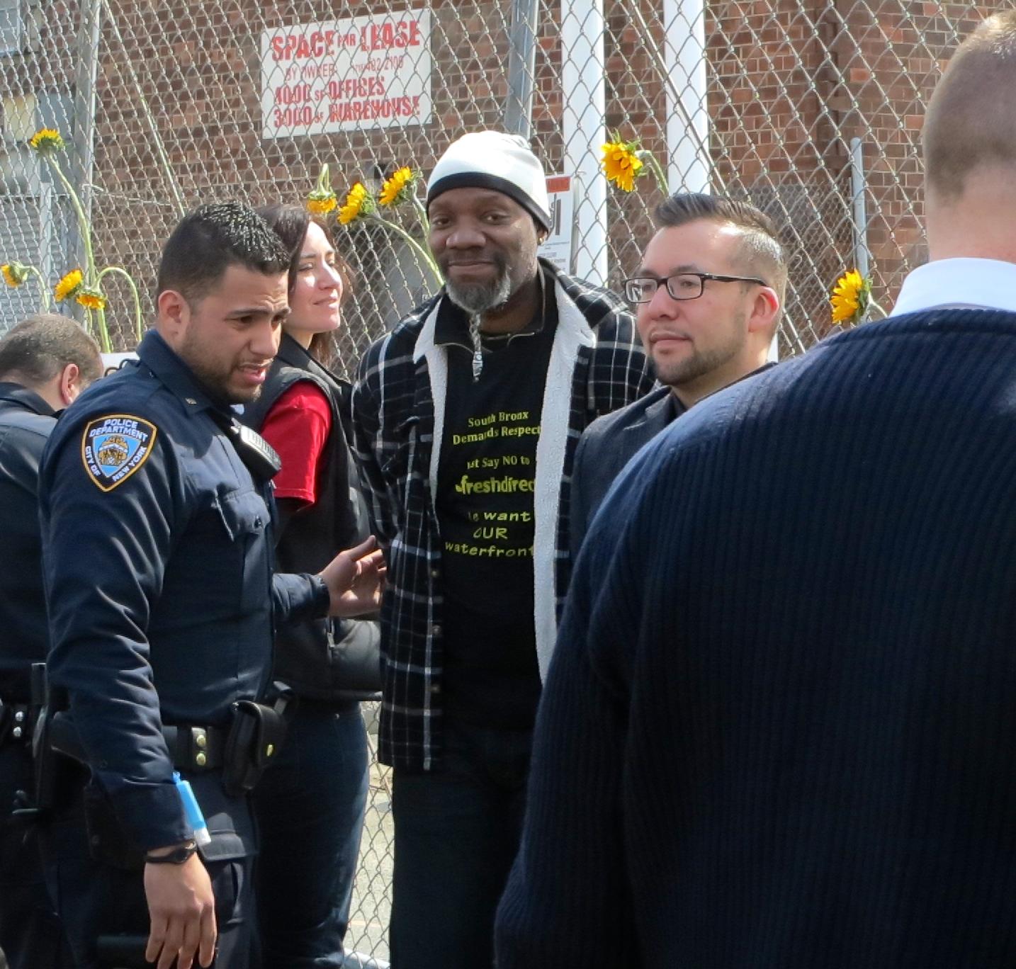 Nine protestors arrested at Harlem River Yard